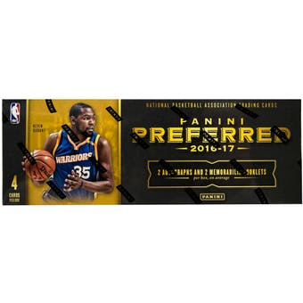 2016/17 Panini Preferred Basketball 4-Box- DACW Live 6 Spot Random Division Break #1