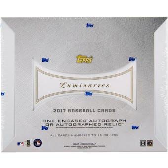 2017 Topps Luminaries Baseball Hobby Box