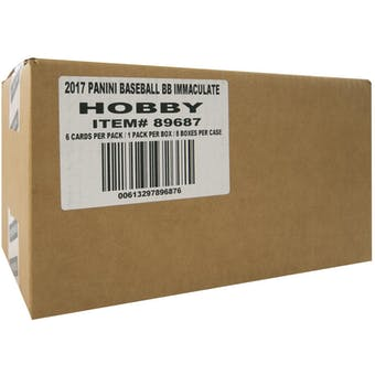 2017 Panini Immaculate Baseball Hobby 8-Box Case