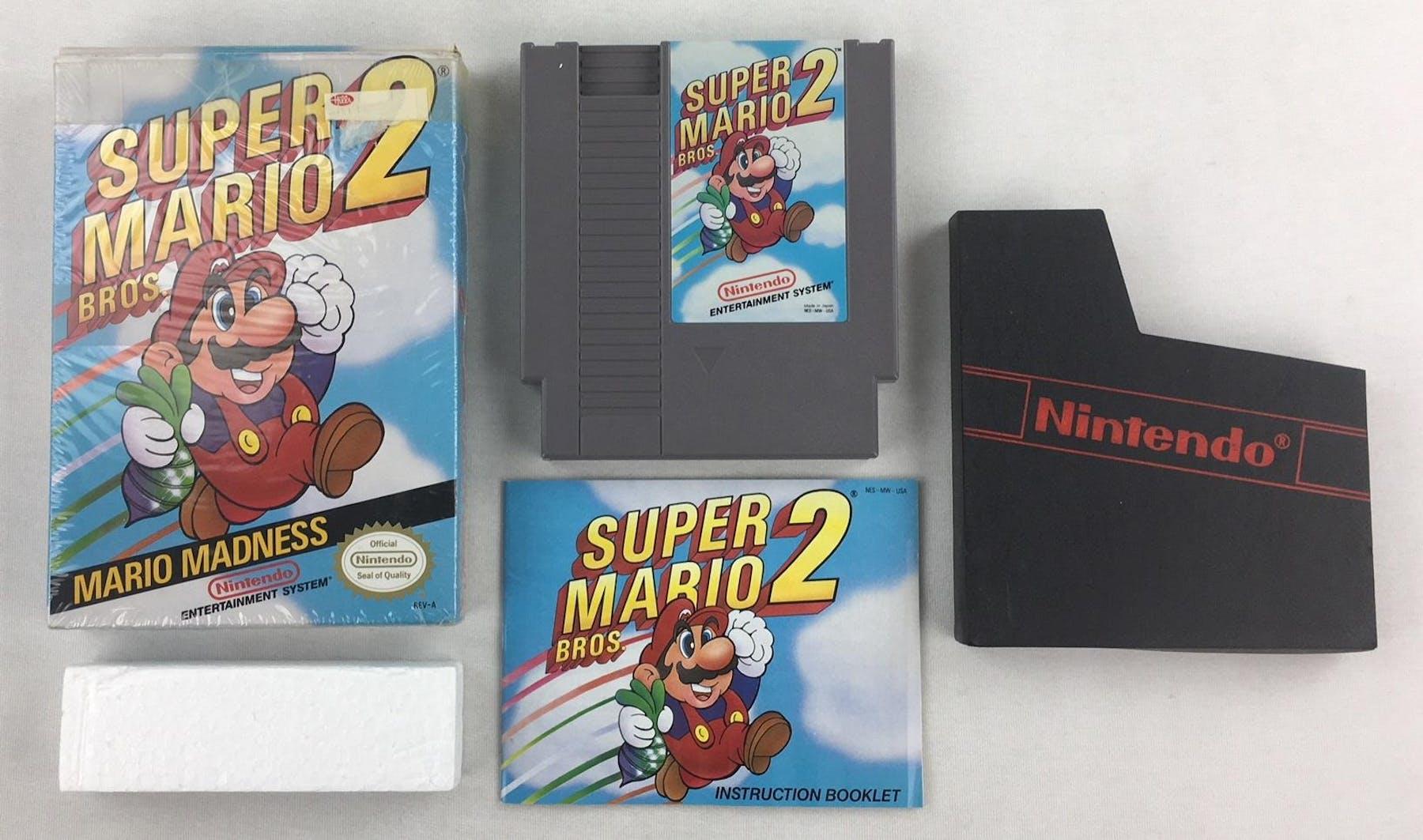 Nintendo (NES) Super Mario Bros. 2 Boxed Complete (White Seal ... f47e74a046