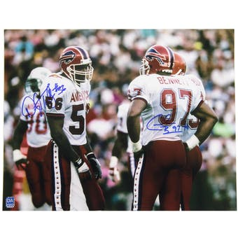 Darryl Talley Cornelius Bennett Autographed Buffalo Bills 11x14 Photo