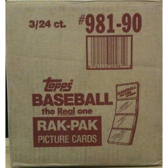 1990 Topps Baseball Rack 3-Box Case