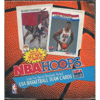 1991/92 Hoops Series 2 Basketball Rack Box