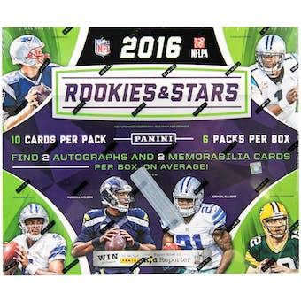 2016 Panini Rookies & Stars Longevity Football Box