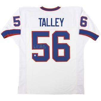 Darryl Talley Autographed Buffalo Bills White Football Jersey