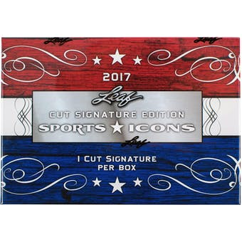 2017 Leaf Sports Icons Cut Signature Edition Hobby Box