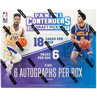 2017/18 Panini Contenders Draft Picks Basketball Hobby Box