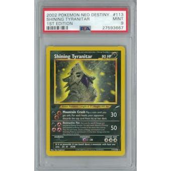 Pokemon Neo Destiny 1st Edition Shining Tyranitar 113/105 PSA 9