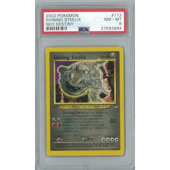 Pokemon Neo Destiny Shining Steelix 112/105 PSA 8
