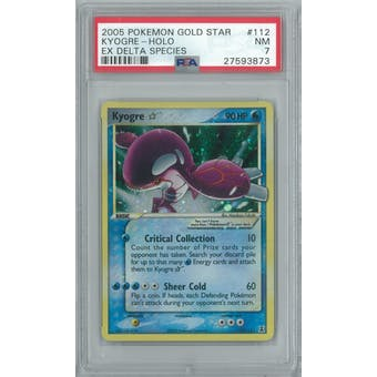 Pokemon EX Delta Species Kyogre Gold Star 112/113 PSA 7