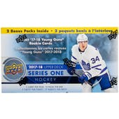 2017/18 Upper Deck Series 1 Hockey 12-Pack Blaster Box