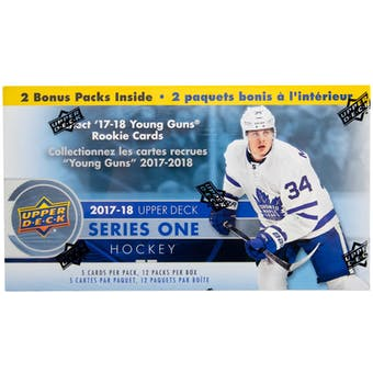 2017/18 Upper Deck Series 1 Hockey 12-Pack Blaster Box