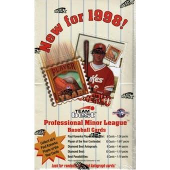1998 Team Best Minor League Baseball Hobby Box