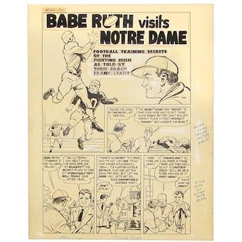 1949 Babe Ruth Sports Comics #5 Original Artwork