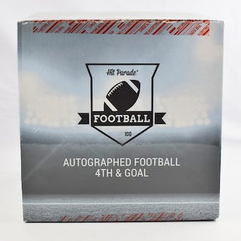 2019 Hit Parade Autographed Football 4th & GOAL Hobby Box - Series 3 - P. Manning, Lamar Jackson, & Jim Brown!