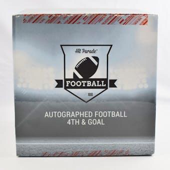 2020 Hit Parade Autographed Football 4th & GOAL Hobby Box - Series 4 - P. Mahomes, W. Payton, & B. Sanders!!