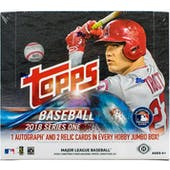 2018 Topps Series 1 Baseball Hobby Jumbo Box