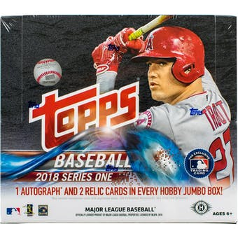 2018 Topps Series 1 Baseball Hobby Jumbo Box