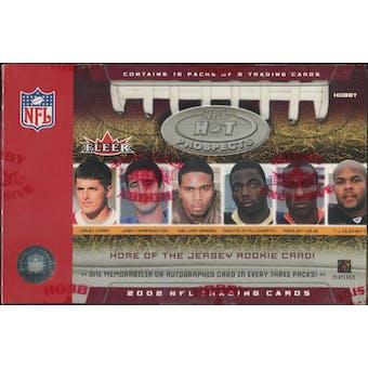 2002 Fleer Hot Prospects Football Hobby Box