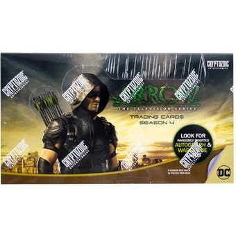 Arrow Season Four (4) Trading Cards Box (Cryptozoic 2017)