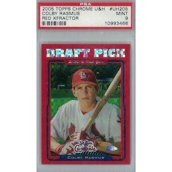 2005 Topps Chrome Update Baseball #UH205 Colby Rasmus Red Xfractor #/65 PSA 9 (Mint) *3466 (Reed Buy)