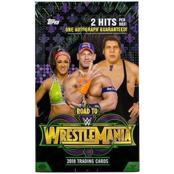 2018 Topps WWE Road to Wrestlemania Wrestling Hobby Box