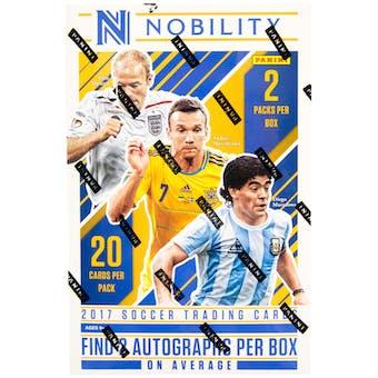 2017/18 Panini Nobility Soccer Hobby Box