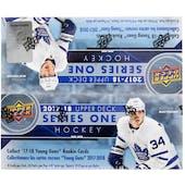 2017/18 Upper Deck Series 1 Hockey 24-Pack Box