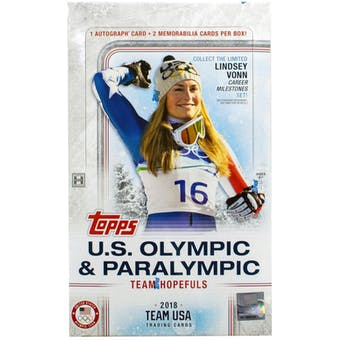 2018 Topps U.S. Winter Olympic & Paralympic Team Hobby Box