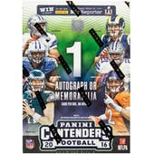 2016 Panini Contenders Football 5-Pack Blaster Box