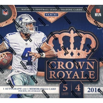2016 Panini Crown Royale Football Ultra Box