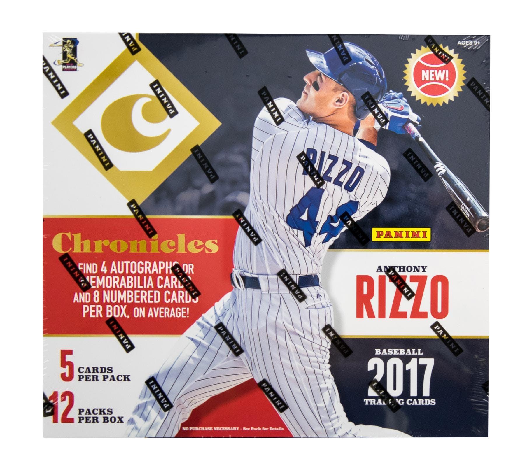 2017 Panini Chronicles Baseball Hobby Box Da Card World