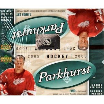 2005/06 Upper Deck Parkhurst Hockey 36 Pack Box