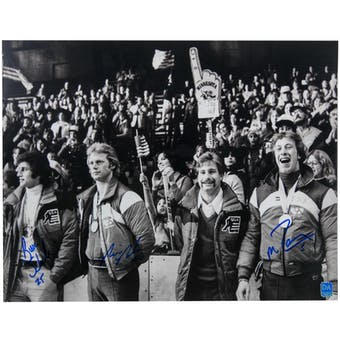 Ramsey, Schneider, Baker Autographed Miracle On Ice USA 11x14 Photo