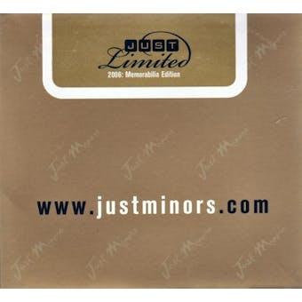 2006 Just Minors Just Limited Memorabilia Edition Baseball Hobby Box