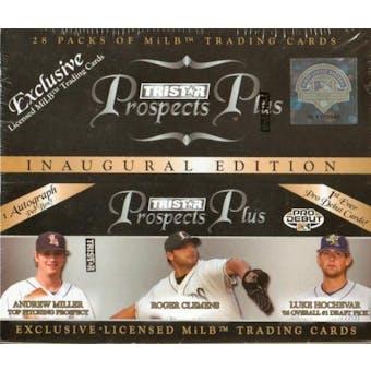 2006 TriStar Prospects Plus Baseball 28 Pack Box