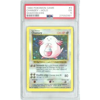 Pokemon Base Set Shadowless Chansey 3/102 PSA 5