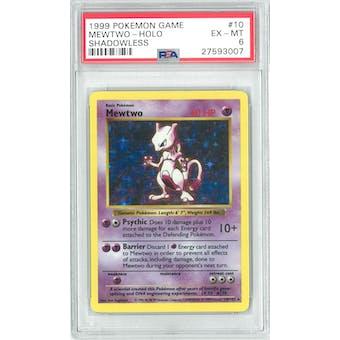 Pokemon Base Set Shadowless Mewtwo 10/102 PSA 6