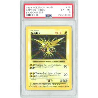 Pokemon Base Set Shadowless Zapdos 16/102 PSA 6