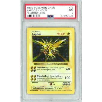 Pokemon Base Set Shadowless Zapdos 16/102 PSA 7