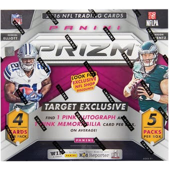 2016 Panini Prizm Football 5-Pack Box (w/Target Exclusive Pink Parallels)