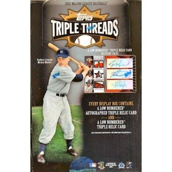 2007 Topps Triple Threads Baseball Hobby Box
