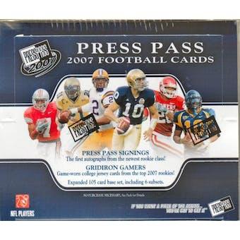 2007 Press Pass Football Hobby Box