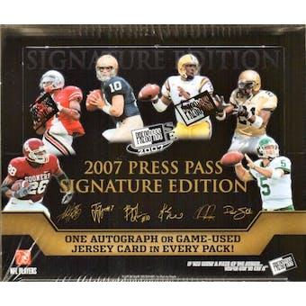 2007 Press Pass Signature Football Hobby Box