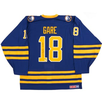Danny Gare Autographed Buffalo Sabres Blue Throwback Jersey