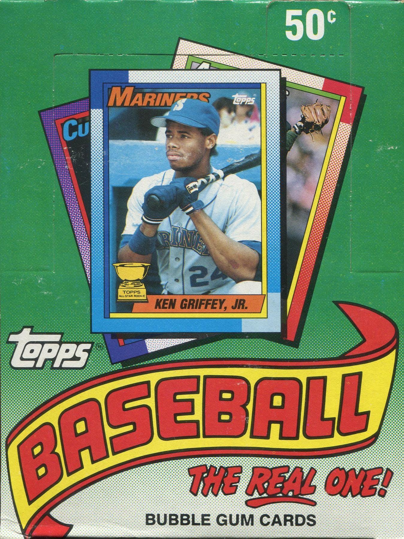 1990 Topps Baseball Wax Box Da Card World