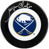 Jacques Cloutier Autographed Buffalo Sabres Hockey Puck