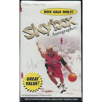 2003/04 Fleer SkyBox Autographics Basketball Blaster Box