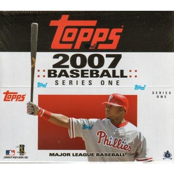 2007 Topps Series 1 Baseball 24 Pack Box (12 cards per pack)