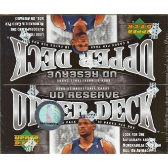 2006/07 Upper Deck Reserve Basketball Hobby Box